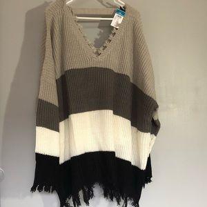 NWT Rue 21 Colorblock Sweater